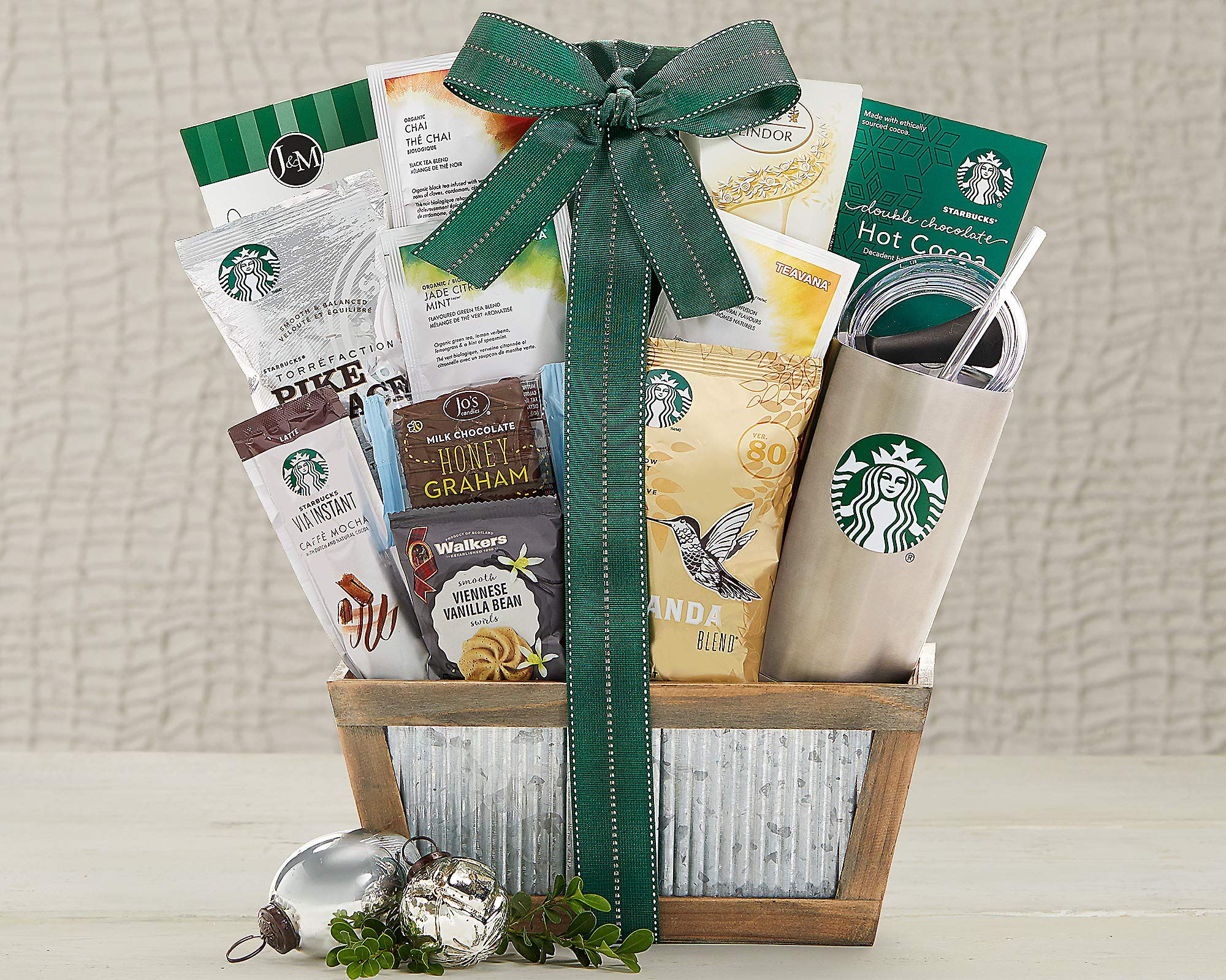 Starbucks Coffee and Teavana Tea Extravagant Gift Basket. A Delectable Gift Idea For Birthday, Baby Shower, Holiday Gift or as a Corporate Gift. Brew It At Home or at the Office ! by Wine Country Gift Baskets (Image #2)