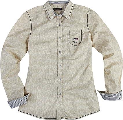 Napapijri - Camisas - para Mujer Beige-Weiß: Amazon.es: Ropa ...