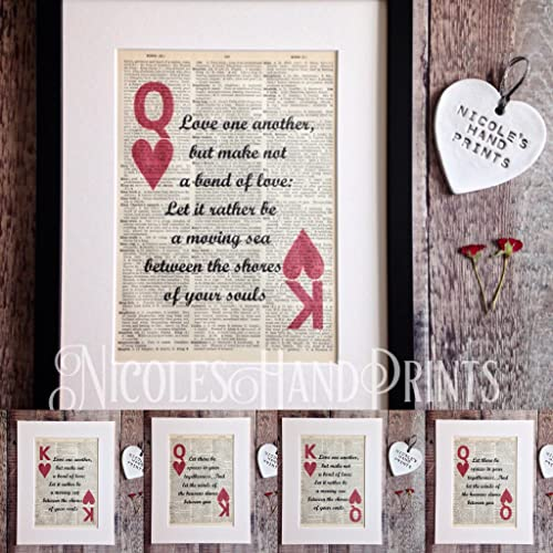King And Queen Gifts   Love Quote Gifts   Kahlil Gibran The Prophet    Poetry Quote