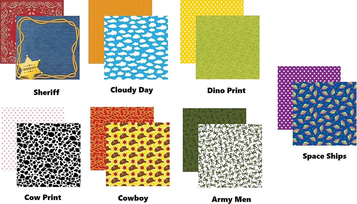 Toy Story Toybox 12x12 Scrapbook Papers and Stickers Set