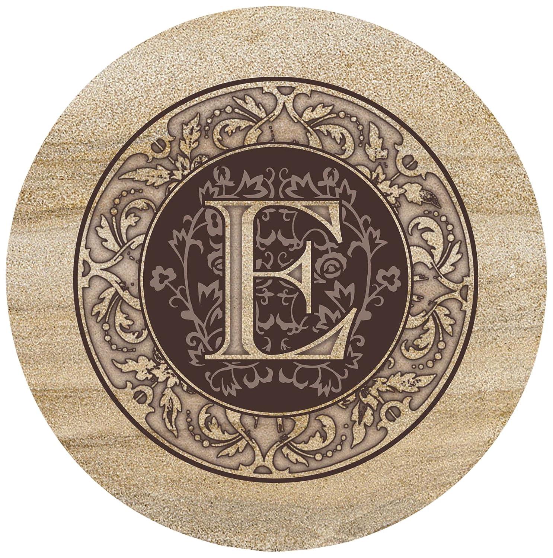 Thirstystone Sandstone Trivet Monogram E TTME
