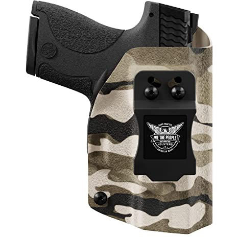 We The People - Tan Camo - Inside Waistband Concealed Carry - IWB Kydex  Holster - Adjustable Ride/Cant/Retention