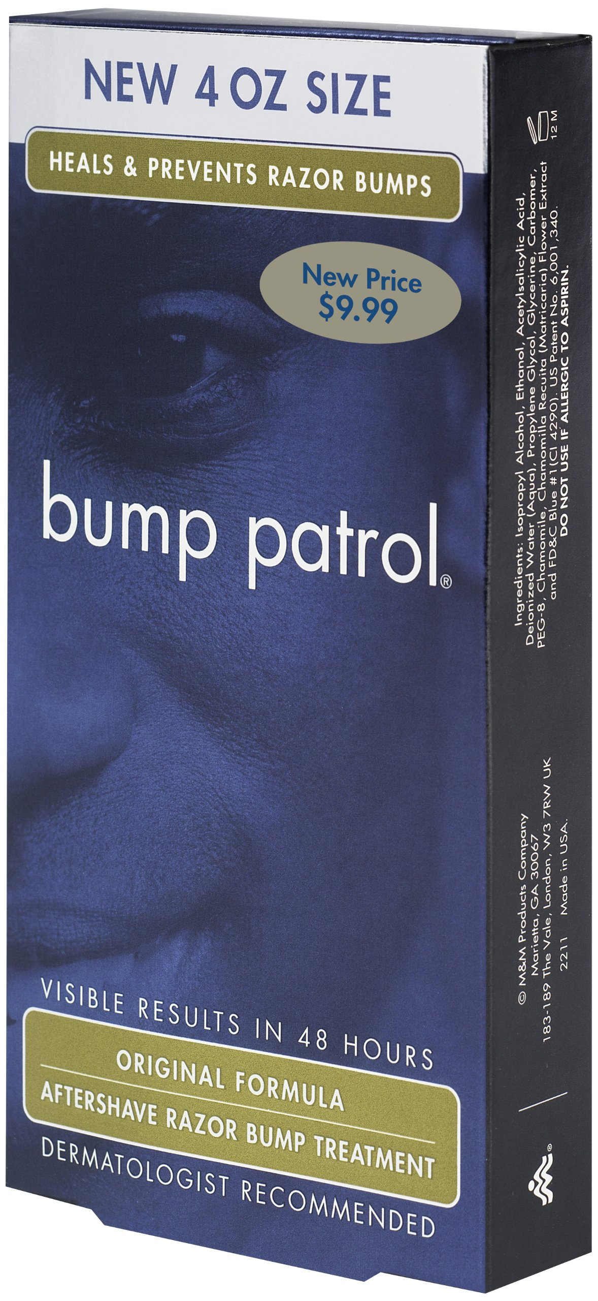 Bump Patrol Original Formula After Shave Intensive Treatment, 4 Ounce