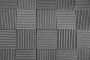 "Soundproofing Acoustic Studio Foam - Wedge Style Panels - 12""x12""x1"" Tiles - 6 Pack - DIY Acoustic Treatment For Recording Studio, Podcasting, Voice Over Vocal Booths, And More"