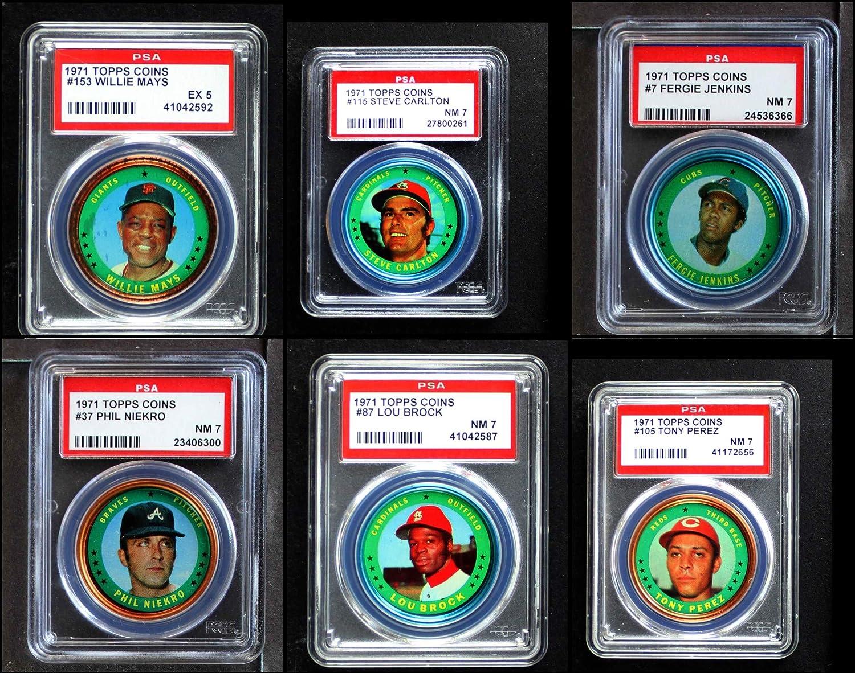1971 Topps Coins Baseball Almost Complete Set (Baseball Set) Dean's Cards 6 - EX/MT 91k2Byu2LS2BLSL1500_