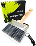 Deck Stain Brush Applicator - Rapid Stain by Perdura - Fence Floor Tool - 5 Inch Paint Brush - Stain Seal and Paint Fast…