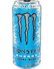 Monster Energy, Ultra Blue, 473mL cans, Pack of 12