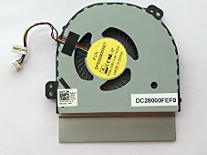 HK-Part Replacement Fan for Dell Alienware 17 R3 Series CPU Cooling Fan 4-Pin 4-Wire DC28000FEF0 DP/N 07740Y CN-07740Y