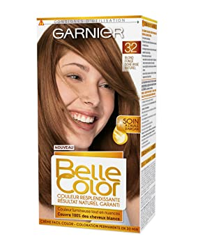 garnier belle color coloration permanente chtain 32 blond fonc dor iris naturel - Coloration Blond Fonce Dore