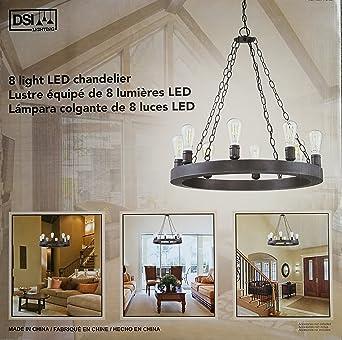 DSI Lighting 8 Light LED Chandelier in Dark Bronze - - Amazon.com