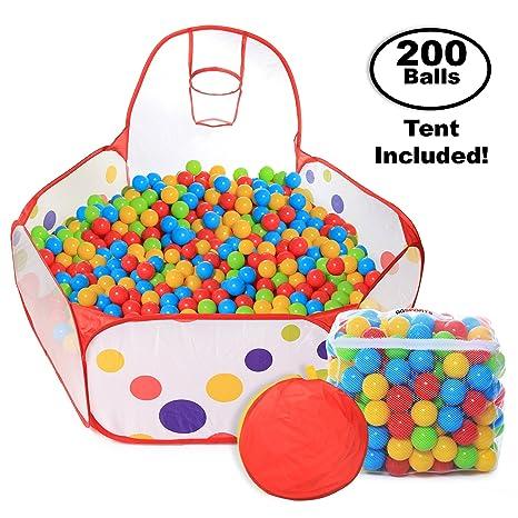 Pop Up Kids Ball Pit Bundle Combo with 200 Colored Plastic Balls (BPA Free  sc 1 st  Amazon.com & Amazon.com: Pop Up Kids Ball Pit Bundle Combo with 200 Colored ...
