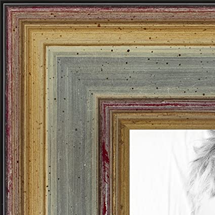 Amazon Arttoframes 10x13 Inch Silver Frame With Gold Accents