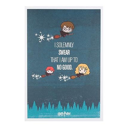 Tarjeta de cumpleaños Hallmark con motivo de Harry Potter y texto «Fun» en tamaño mediano