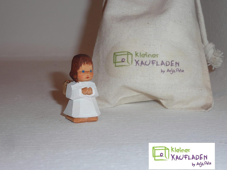 Lotte Sievers-Hahn Engel kniend braun mit Baumwollbeutel