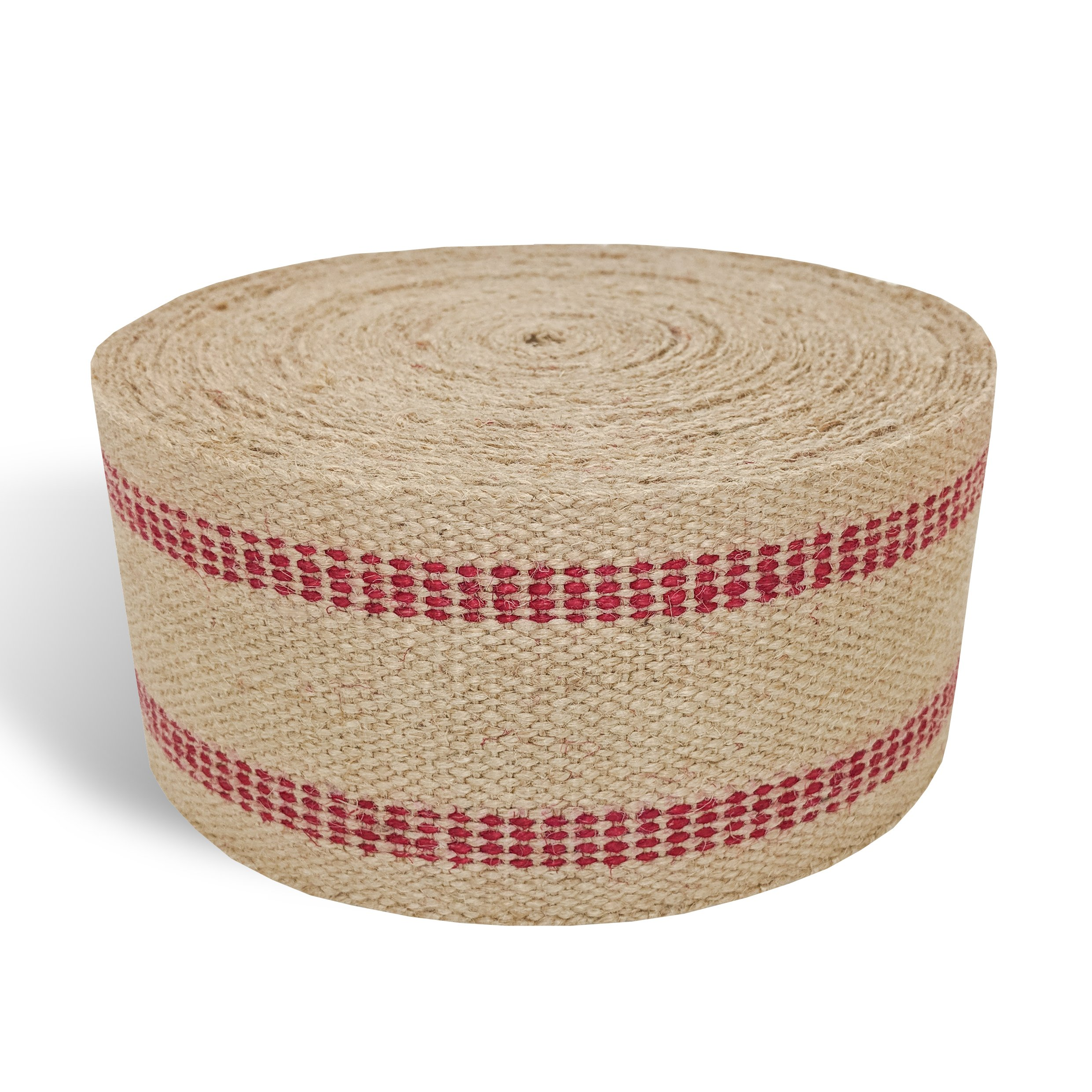 Red Upholstery Craft Jute Webbing, 11 lbs 3.5'' x 10Yd and 20 Yd Rolls (20 yd) by Wholesale Upholstery Supply (Image #3)