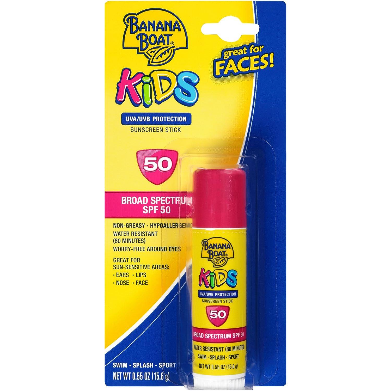 Banana Boat Kids Sunscreen Stick SPF 50 .55 oz UVA/UVB Protection 14653
