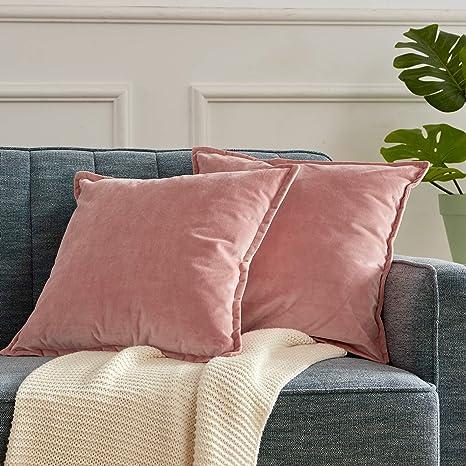 Fashion Silk Satin Bedding Pillowcase Home Solid Pillow Case Sofa Living Room