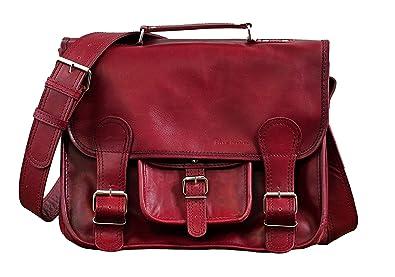 d96a729fd88f6 Paul Marius LE CARTABLE (M) cuir couleur Bordeaux sac bandoulière style  Vintage format (