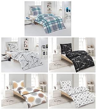 Seersucker Bettwäsche 100 Baumwolle 2 4 Teilig 155x220 Cm Mit Reißverschluss In Verschiedene Designs 4 Tlg Set Seersucker Bettwäsche 2x155x220