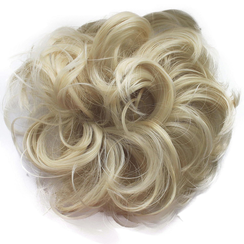 PRETTYSHOP Postizo Coletero Peinado alto, VOLUMINOSO, rizado, Moño descuidado mezcla rubia # 86Ah613 G30A