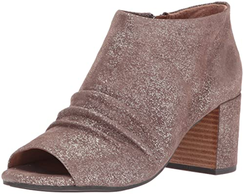 9f441d22967 Gentle Souls by Kenneth Cole Women s Camelia PEEP Toe Bootie with Ruched  Vamp Boot