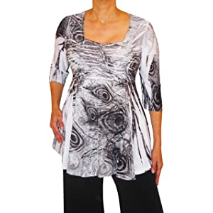 ffe4149fd06df Funfash Plus Size Women Slimming Rhinestones A Line Top Blouse Shirt Made  in USA
