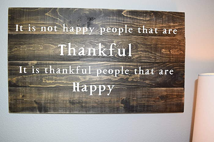 Thankful Sign Wood Wall Decor Wood Sign Sayings Rustic Wall Art