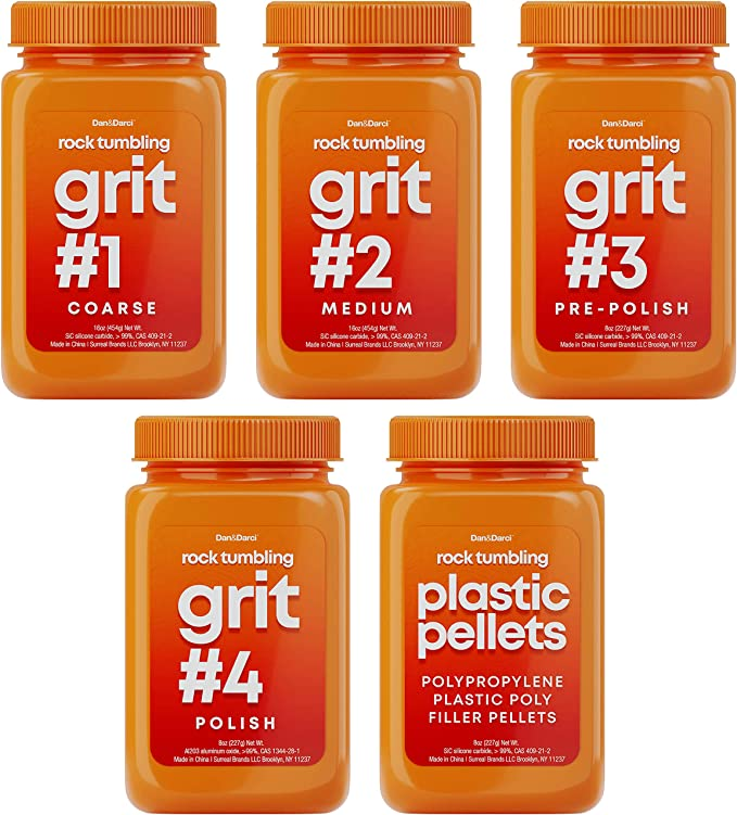 Smithsonian Rock Tumbler refill kits 2 You get Two Full Sets grit /& polish