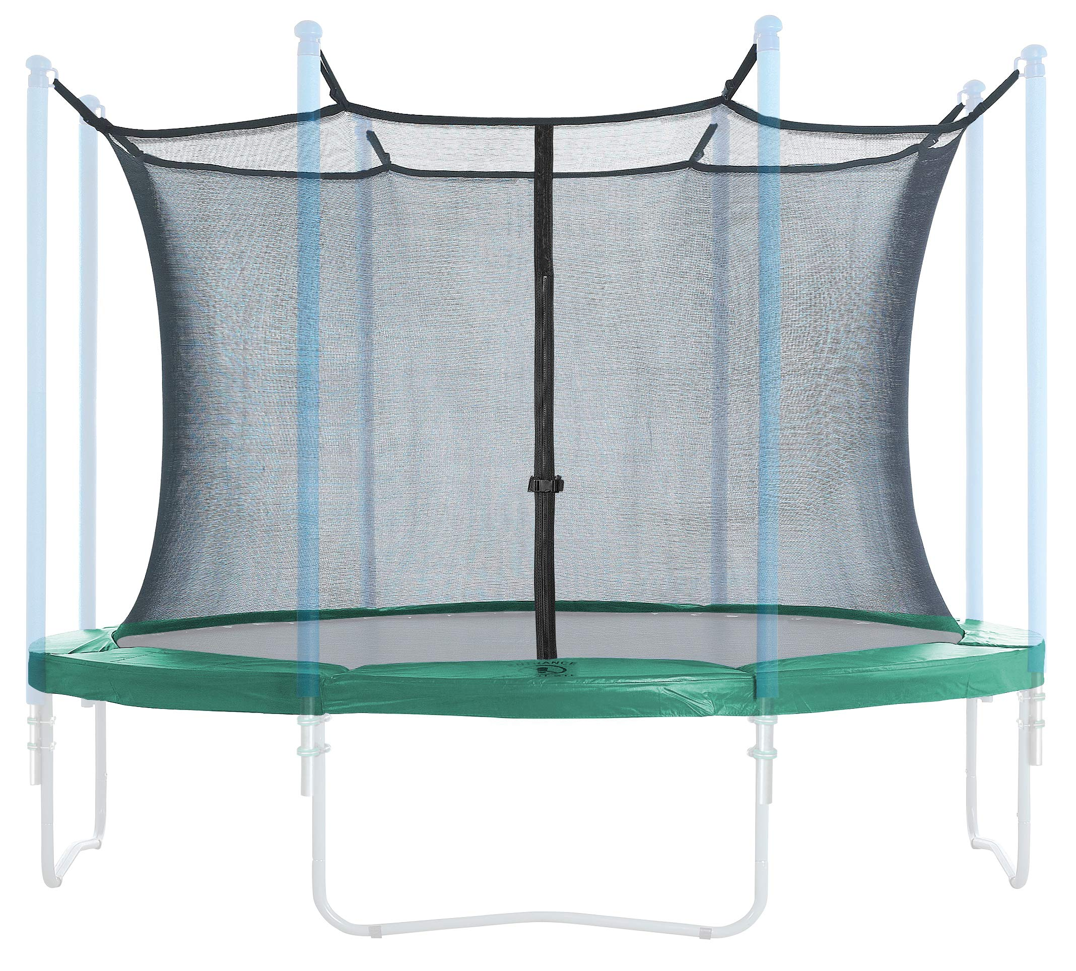 Trampoline Enclosure and Safety Pad Set | Round Frame Safety pad 15 Foot | 6 Poles or 3 Arches | Inside Enclosure Safety net |Spring Cover |Universal Fit | Outdoor Trampoline | Green Pad ♂