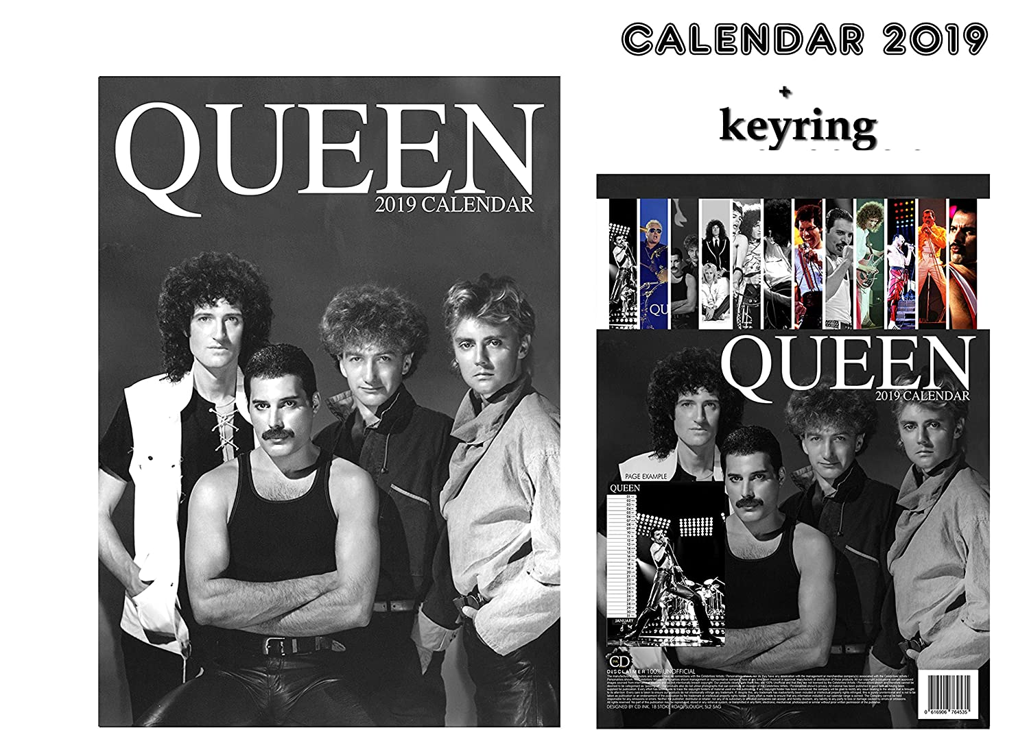 QUEEN CALENDARIO 2019 + QUEEN LLAVERO