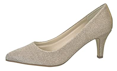 Rainbow Club Brautschuhe Brooke - Pumps, Ivory Creme Gold Metallic, Textil - 534068d270