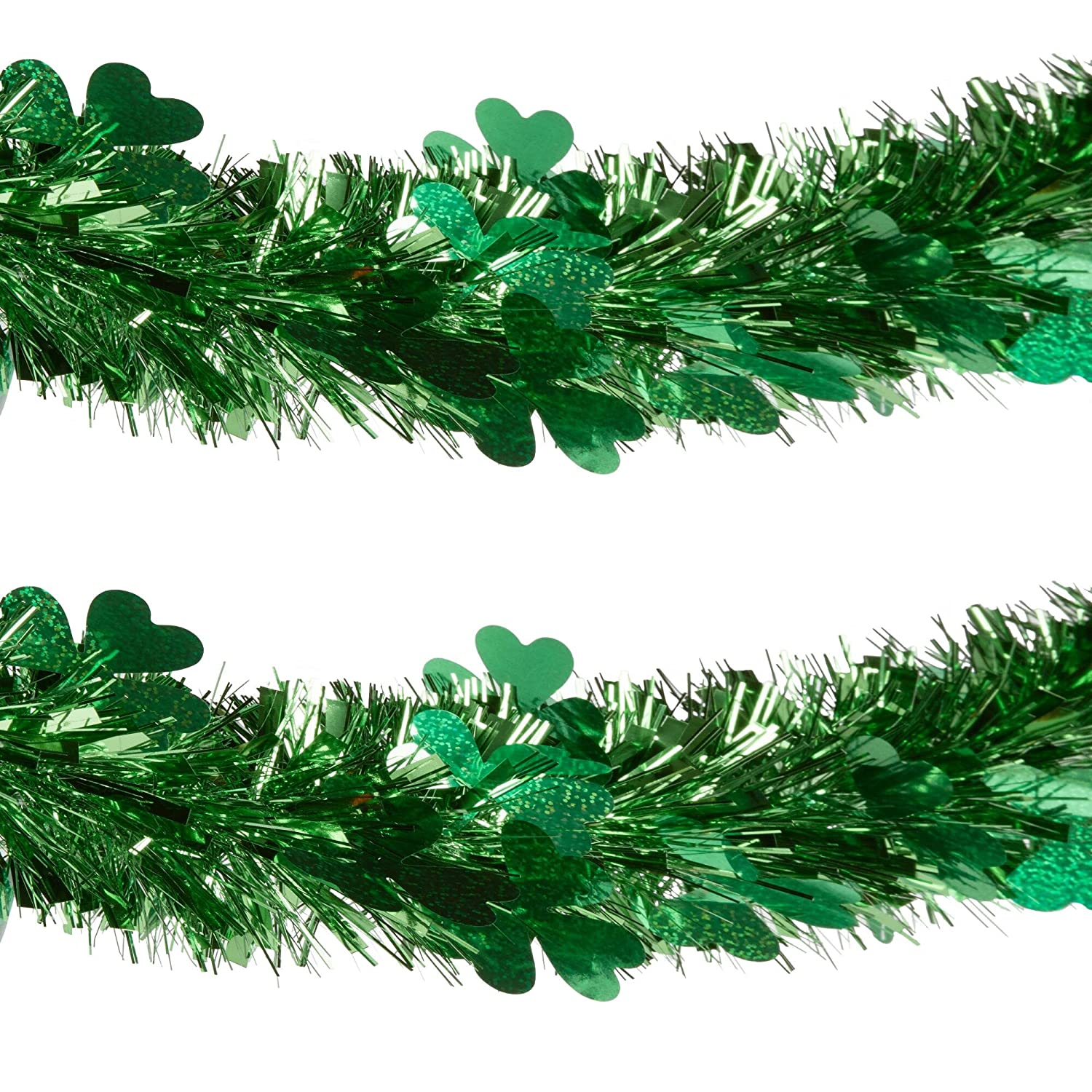 Amazon Young Craft St Patrick s Day Shamrock Die Cut Tinsel