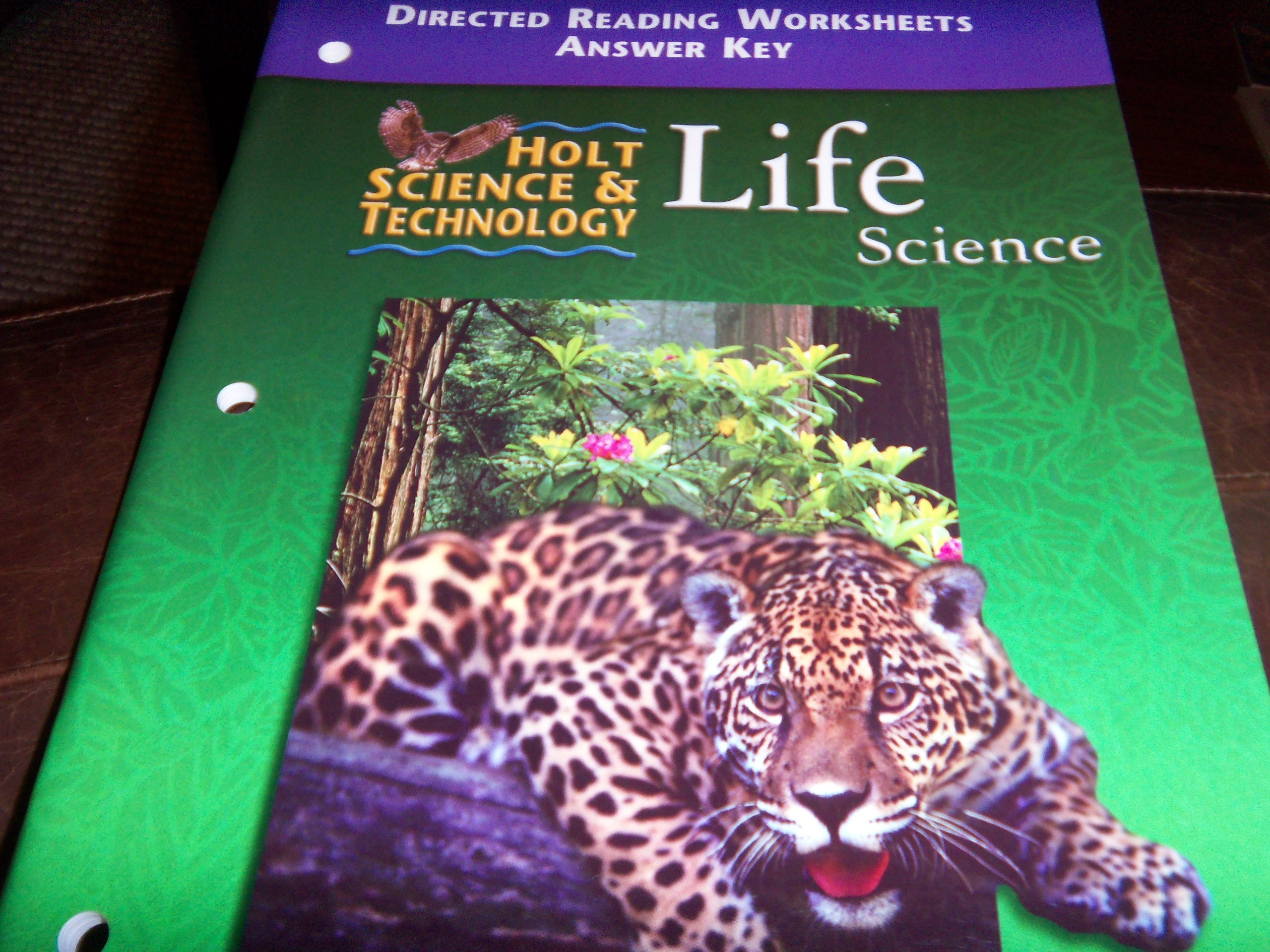 Holt Science And Technology 2001 Life Directed Reading Worksheets