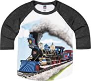 Shirts That Go Little Boys' Steam Train Raglan T-Shirt