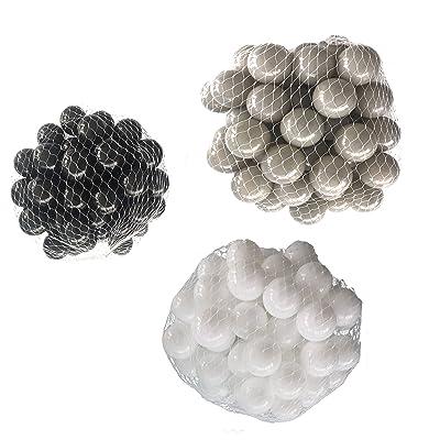 Balles pour balles de bain Mélange Mix avec blanc, gris et noir