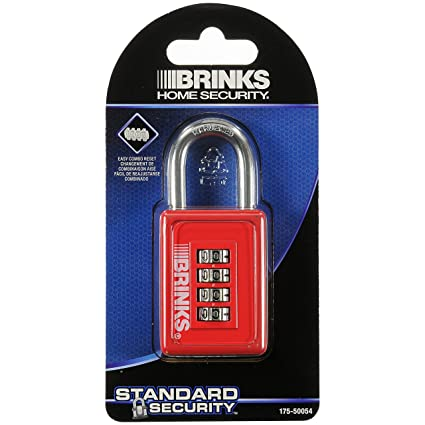Brinks 175 50054 40mm 4 Dial Resettable Sports Combination Padlock