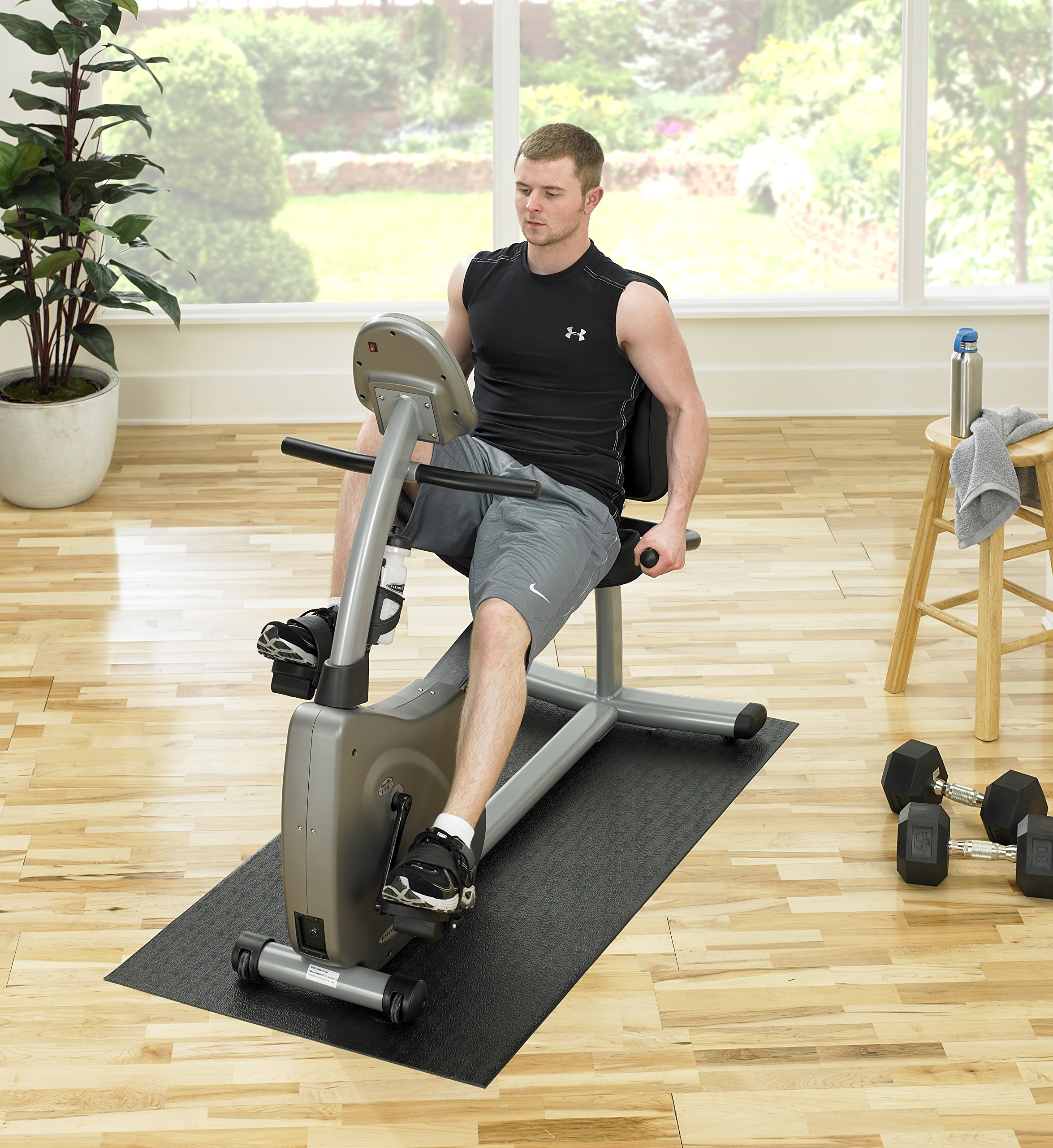 Supermats Heavy Duty Equipment Mat 13GS Made in U.S.A. for Indoor Cycles Recumbent Bikes Upright Exercise Bikes and Steppers  (2.5 Feet x 5 Feet) (30-Inch x 60-Inch)  (76.2 cm x 152.4 cm) by SuperMats (Image #3)