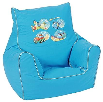 d48635d66 Knorr-baby 450185 - Sillón blando infantil con diseño de vehículos, color  azul