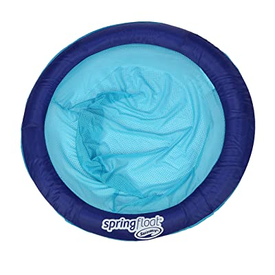 SwimWays Spring Float Papasan - Mesh Float for Pool or Lake - Dark Blue/Light Blue: Toys & Games
