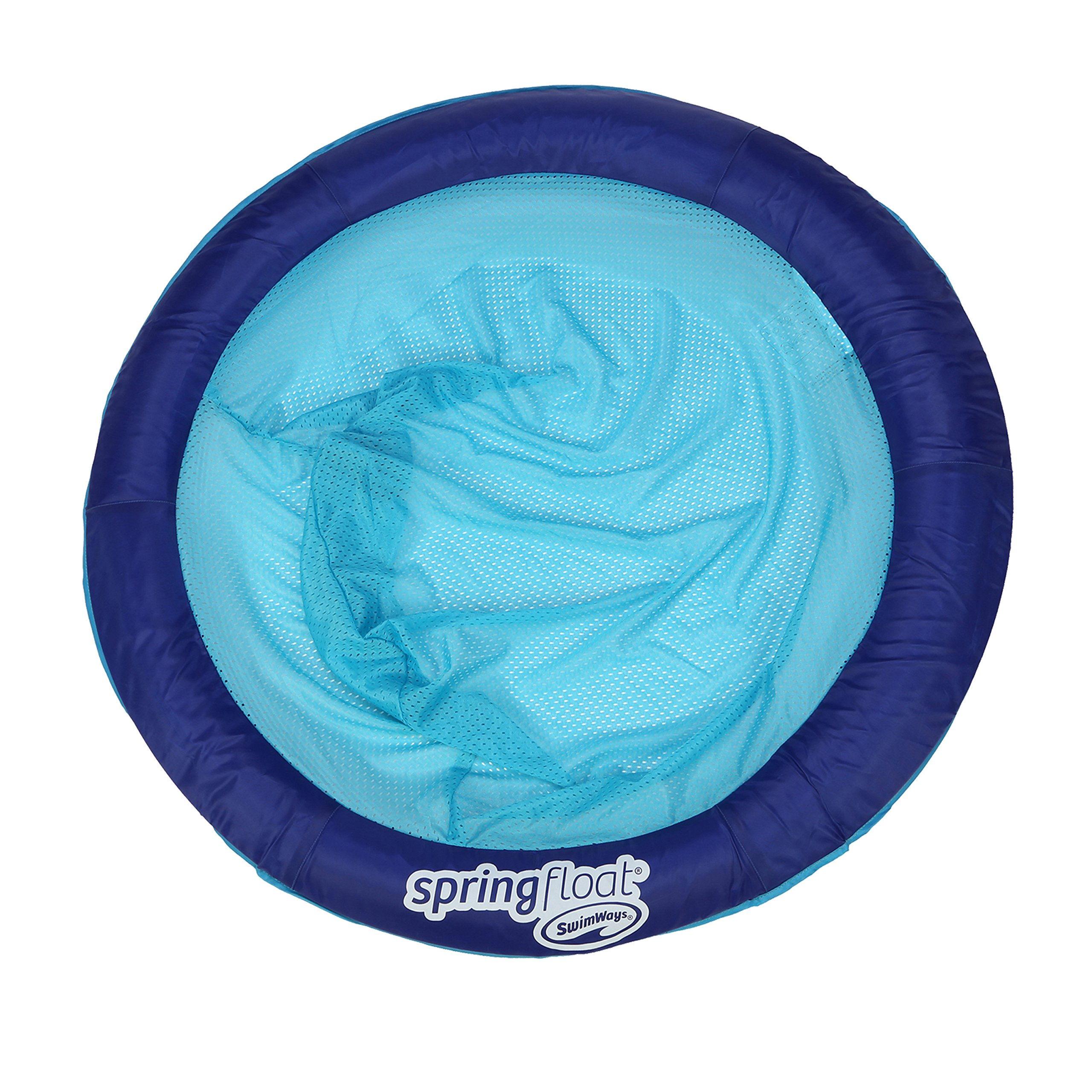 SwimWays Spring Float Papasan - Mesh Float for Pool or Lake - Dark Blue/Light Blue by SwimWays