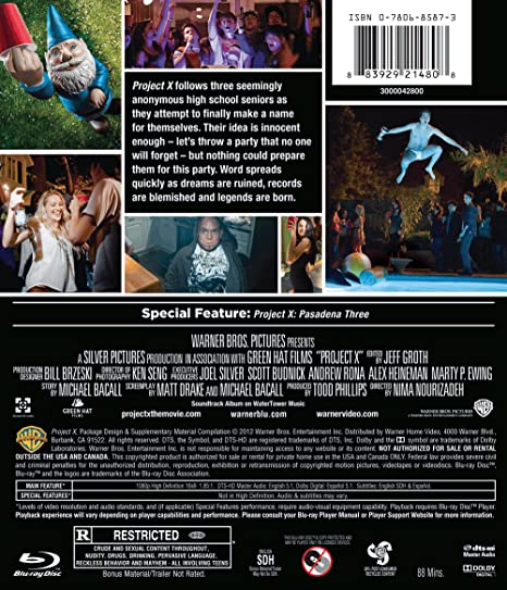 Amazon com: Project X (TH Only)(Blu-ray): Nima Nourizadeh