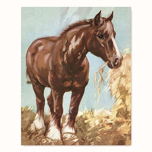 Horse Wall Art, Clydesdale Print (Boy Baby Nursery Girl, Farmhouse Home  Decor)