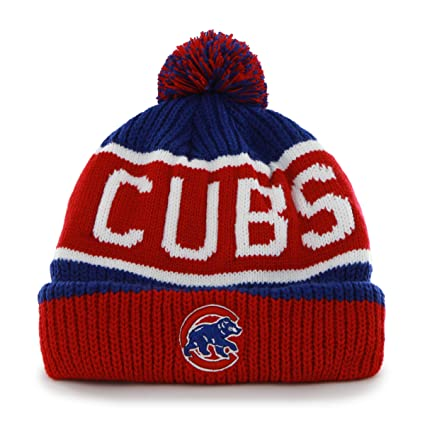 Amazon.com    47 MLB Chicago Cubs Brand Calgary Cuff Knit Hat with ... 9c42c8e11d7
