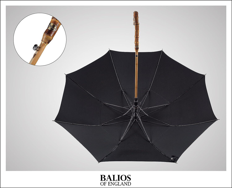 Balios® - Plegable Negro Jet Black with Bamboo Handle: Amazon.es: Equipaje