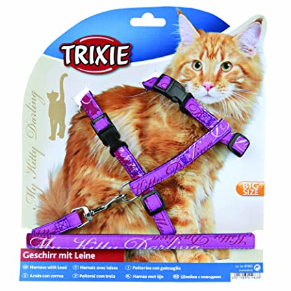 Trixie My Kitty Darling, Juego de Correa y arnés para Gatos ...