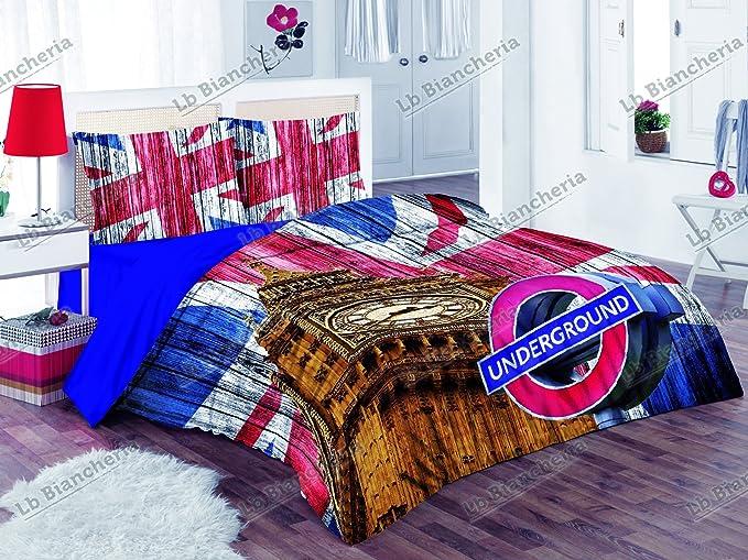RP Juego Sábanas Uso Colcha London Big Ben – 100% algodón ...