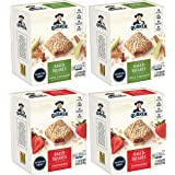 Quaker Baked Squares, Soft Baked Bars, Apple Cinnamon & Strawberry, 5 Bars (Pack of 4)