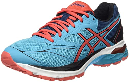 Asics Gel Pulse 8 Womens Cushioned Running Shoes Trainers Black Blue Sporting Goods Women's Shoes