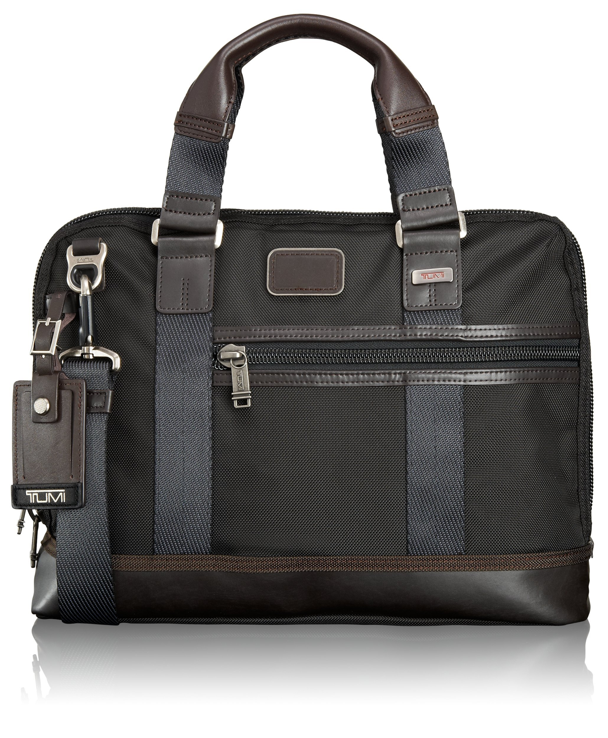 Tumi Alpha Bravo Earle Compact Brief, Hickory, One Size