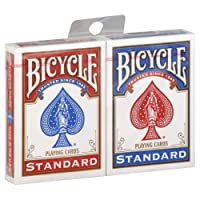 Paquet Cartes X 2 Jeu Bicycle - 1 Rouge et 1 Bleu